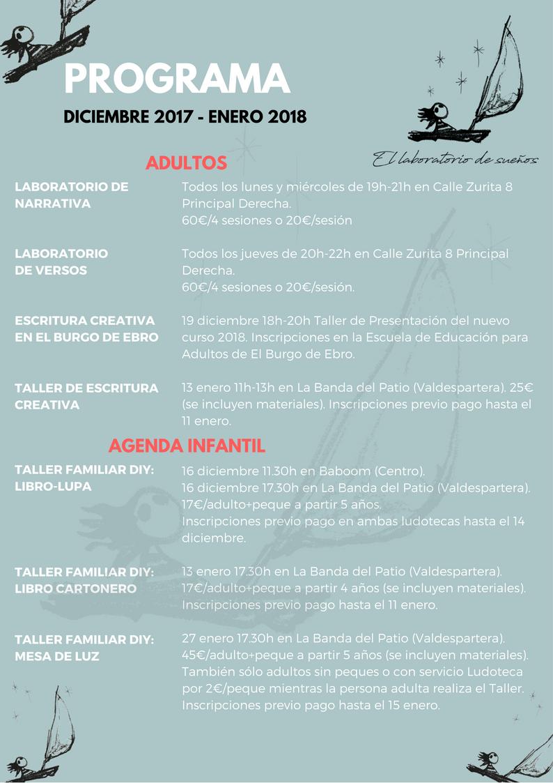 programación diciembre-enero