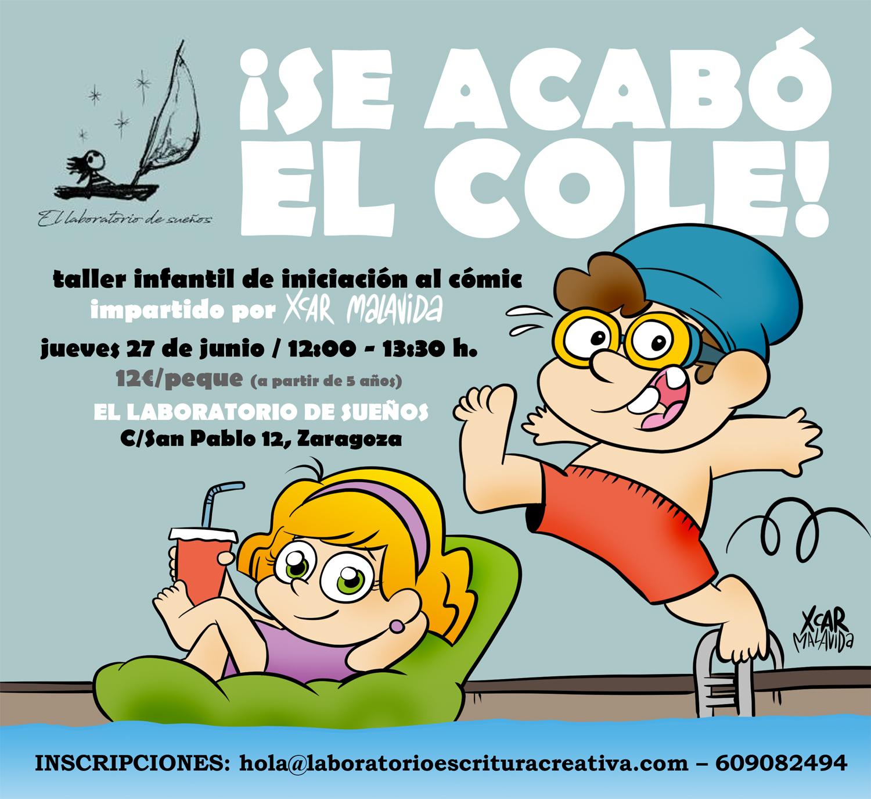 Taller Infantil de Cómic (por XCAR Malavida): ¡Se acabó el cole!