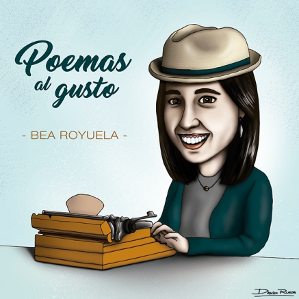 David Rueda - Bea Royuela caricatura web